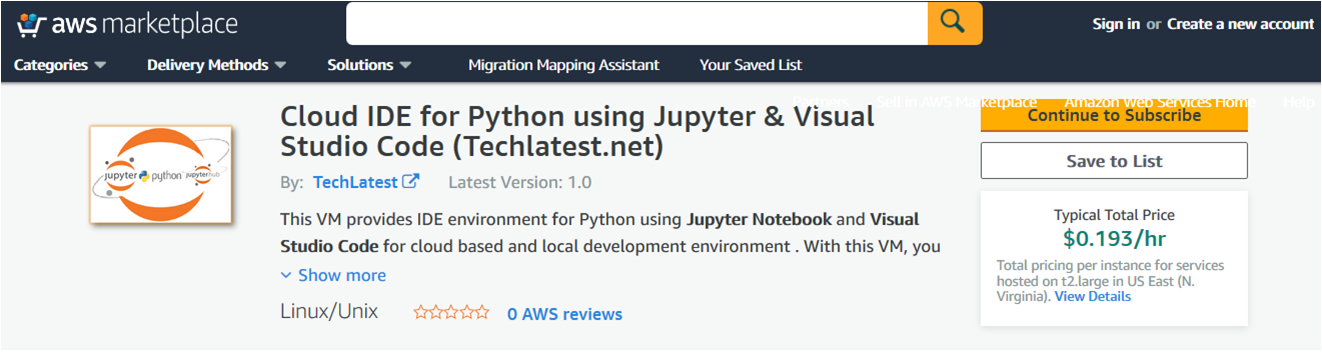/img/aws/jupyter-python-notebook/marketplace.png